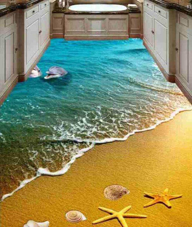 3D Epoxy Kitchen Floor