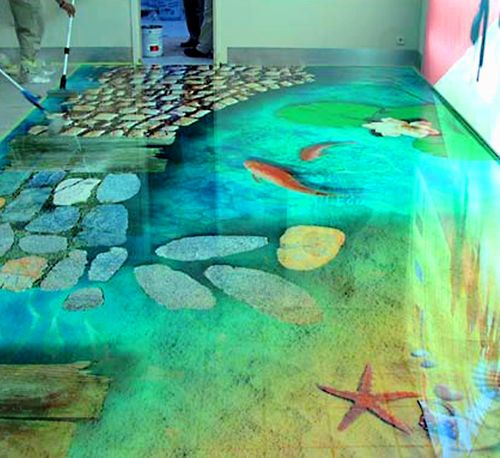 epoxy flooring for villa