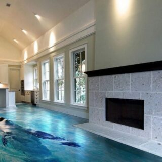 living room dolphin epoxy flooring