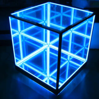 infinity mirror cube table