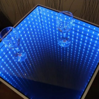 infinity mirror table with led