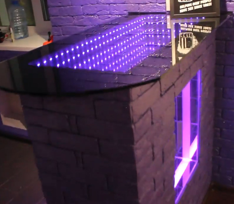 infinity mirror with led panel