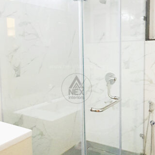 bathroom glas work