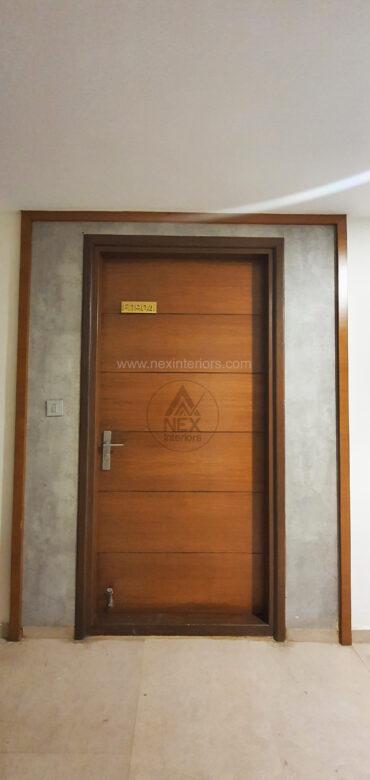 main entrence door panel design