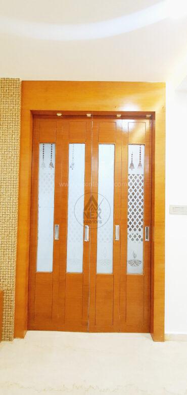 pooja room sliding doors