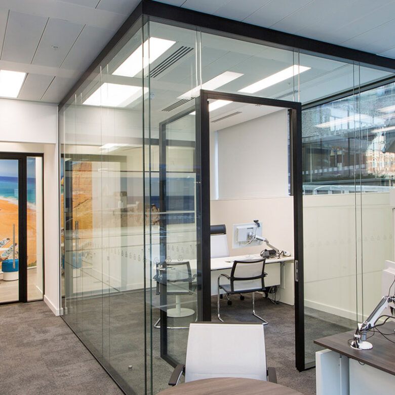 glass Office walls works in hyderabad